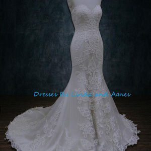 acf78ecdca06 Dresses & Skirts - Lace mermaid wedding dress with opened back